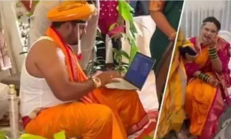 Office Work In Marriage : मंडप में दूल्हा चला रहा था लेपटॉप, लोगों ने कर दिए ऐसे कमेंट्स, देखिये वीडियो