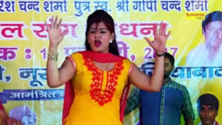 """Dancer Monika Choudhary : सपना चौधरी के बाद """"बंदूक चल गई"""" गाने पर इस डांसर ने मचाया तहलका, लोग झूम उठे,"""